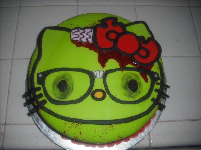 Angies Cakes Bakes Hello Kitty Zombie Nerd Awesome